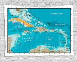 Map Fabric Carribbean Map Judgemental Maps Houston Asset Mapping