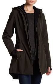 french connection hooded softshell utility coat nordstrom rack