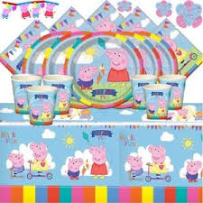 peppa pig party supplies peppa pig party supplies complete carnival kits for 8 16 24 32 40