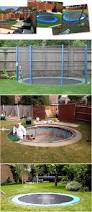 Building A Backyard Playground by Safe And Cool A Sunken Trampoline For Kids Future Home