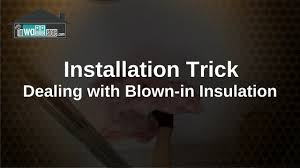Insulation For Ceilings by Blown In Insulation Trick For Ceiling Speakers Youtube