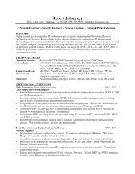 Security Officer Sample Resume by Sample Network Engineer Resume Resume For Your Job Application