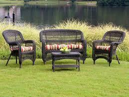 outdoor table sets sale tortuga portside dark roast wicker conversation set wicker patio
