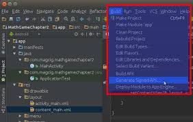 create apk how to build an android app to create a signed apk file on