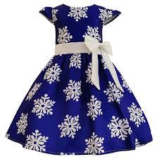 2018 newGirls Christmas Dress Kids Snowflake Clothes baby Girls