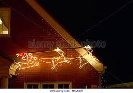 christmas lights reindeer sleigh stock photos u0026 christmas lights