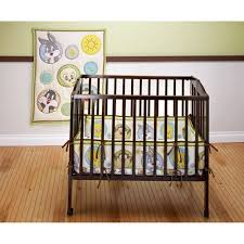 baby looney tunes tweety circles 3 piece portable crib bedding