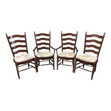 Ladder Back Dining Chairs Amish Ladder Back Dining Chairs Set Of 4 Design Plus Gallery