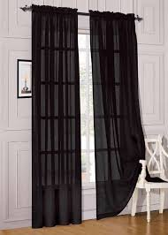 Crushed Voile Sheer Curtains by Total Fab Black And White Checkered Comforters U0026 Bedding Sets