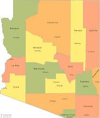 az city map arizona county map