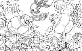 coloring activities marvel super heroes lego