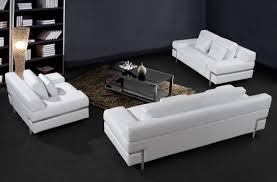 Bellini Leather Sofa White Leather Contemporary Sofa Centerfieldbar Com