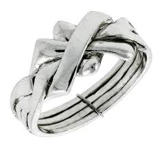 braided band sterling silver 4 woven braided design puzzle ring band 7