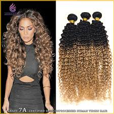 ombre hair weave african american natural humano weaving jerry curl 3 pieces lot bundle two tone