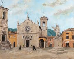 image from the rubble painting the norcia commission michelle