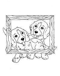 dogs in a frame coloring page animal pages of kidscoloringpage