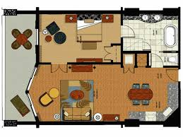 3 Bedroom Hotels In Orlando One Bedroom Floor Plan For Parc Soleil Hotel By Hilton Grand