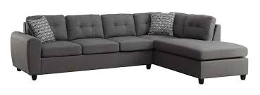 Grey Button Sofa Stonenesse Grey Contemporary Reversible Sectional With Button