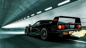 black ferrari wallpaper ferrari f40 black fast n loud wallpaper 1600x900 9381