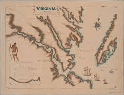 A Map Of Virginia by On This Date In 1607 Jamestown Was Founded Here U0027s A Map Of