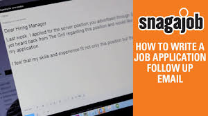 How To Draft A Mail For Sending Resume Job Interview Tips Part 12 How To Write A Job Application