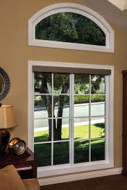photo gallery milgard tuscany series horizontal slider with sdl grids and arch picture window above