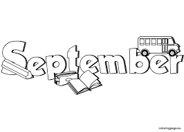 September Coloring Page Coloring Pages Printables Templates Coloring Pages For September