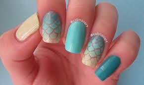 mermaid nail art tutorial youtube