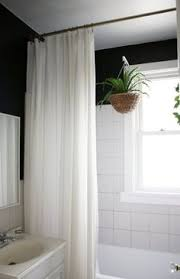 Bathroom Shower Curtain This Just Changed My As I A Pole From Ceiling To Curtain