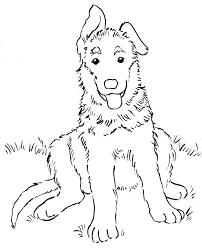 german shepherd coloring page german shepherd dog portrait