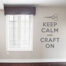 keep calm and craft on wall quote decal