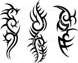 tribal tattoo design stock vector art 165558100 istock