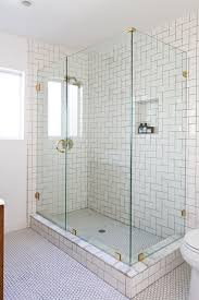 glass bathroom tiles ideas modern white glass windows covering horizontal blind shower tub tile