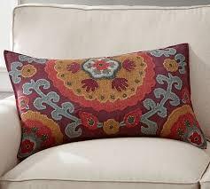 Houston Suzani Lumbar Pillow Cover