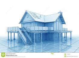 3d blueprint house stock photography image 11682302