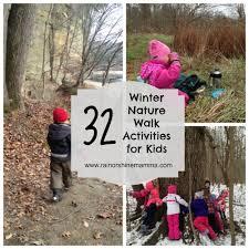 32 fun winter nature walk activities for kids rain or shine mamma