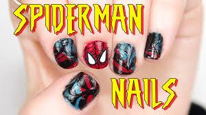 spiderman nail art tutorial youtube