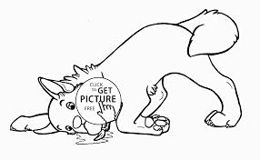 very funny dog coloring page for kids animal coloring pages