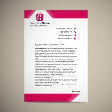 letterhead template design vector free download
