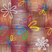 seamless pattern with abstract rainbow butterfly and flowers