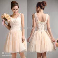 2015 champagne tulle sweetheart bridesmaid dresses ruffle beads
