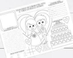 printable kids wedding activity pdf custom favor