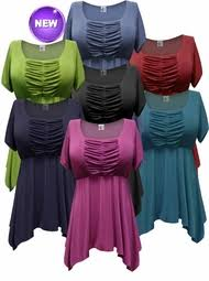 purple blouse plus size lightweight stretchy casual s babydoll tops 1x 2x 3x