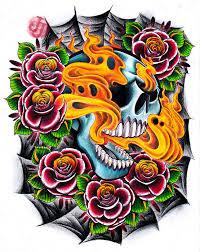 flaming skull leg design by jerrrroen on deviantart