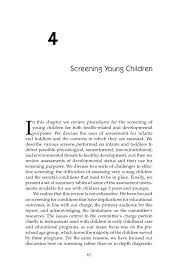 how to write a resume for child care 4 screening young children early childhood assessment why what page 61