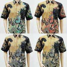 desain baju batik pria 2014 model baju batik pria lengan pendek pola daun 2018 batik bagoes solo
