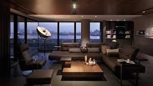 canapé cuir design luxe design interieur salon design canapé cuir marron table basse bois