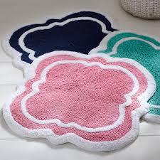 Pink Bathroom Rugs And Mats Clover Bath Mat Pbteen
