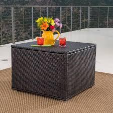 mercury row benbow wicker deck box u0026 reviews wayfair