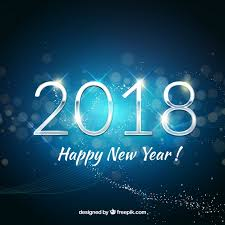 happy new year backdrop happy new year background 2018 in blue tones vector free